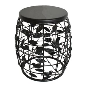 Humbolt Bird Theme Barrel End Table by Fox Hill Trading