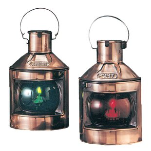 Buco Copper Port and Starboard 2 Piece Lamp Set (Set of 2)