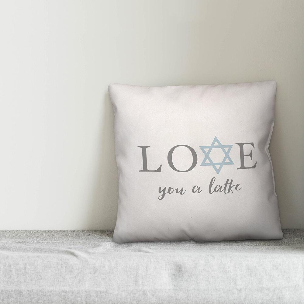 The Holiday Aisle Dittmer Love You A Latke Throw Pillow Wayfair
