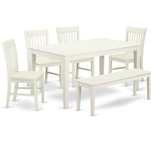 Smyrna 6 Piece Solid Wood Dining Set by C..