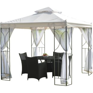 Polenza 8 Ft. W X 8 Ft. D Metal Patio Gazebo