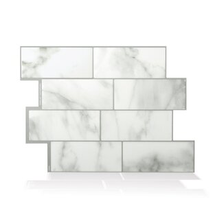 Mosaik Metro Carrera 11 56 X 8 38 L Stick Subway Tile In White And Gray
