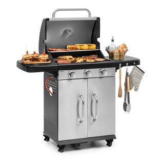 55cm Gazooka 3-Burner Portable Liquid Propane Barbecue Grill By Klarstein