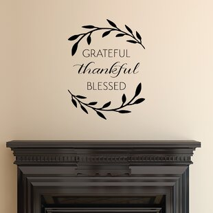 Grateful Thankful Blessed Wall Quotes™ Decal