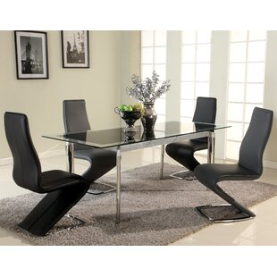 Affordable Chellsey Extendable Glass Dining Table By Orren Ellis