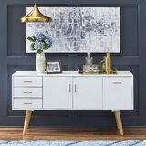 Hoai 56 Wide 3 Drawer Sideboard by Wrought Studio™