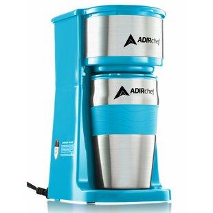 AdirChef Grab and Go Personal Coffee Maker with 15 oz. Travel Mug