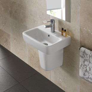 Find for Comprimo Vitreous China 18 Wall Mount Bathroom Sink with Overflow By Bissonnet