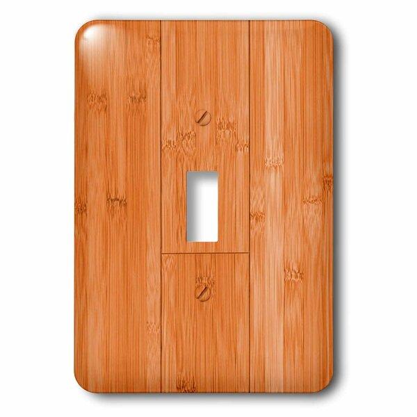 3drose Bamboo Wood Plate Grain 1 Gang Toggle Light Switch Wall Plate Wayfair Ca