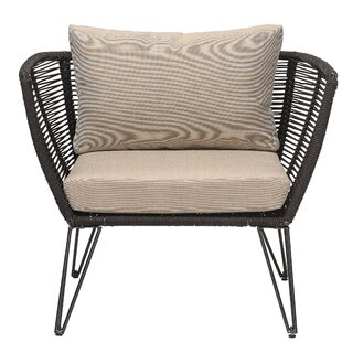 Deanne Metal and Woven Rope Barrel Chair (Set of 2)