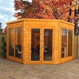 Premium 9 X 9 Ft. Shiplap Corner Summer House Image