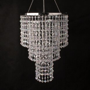 Donell Iridescent Gemstone 3-Light Crystal Chandelier