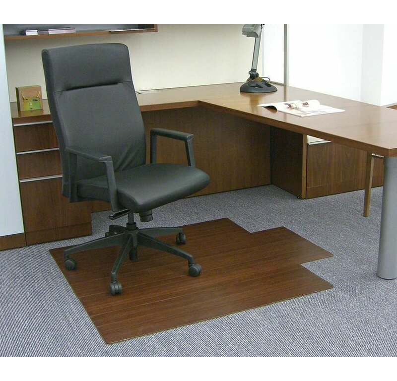 Low Pile and Hardwood Bamboo Office Chair Mat  sc 1 st  Wayfair & Wildon Home ® Low Pile and Hardwood Bamboo Office Chair Mat ...