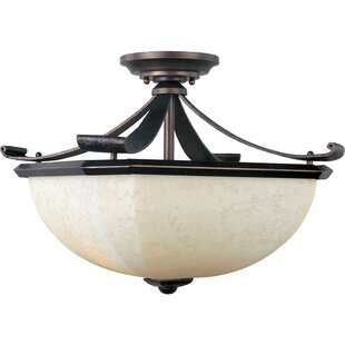 Darby Home Co Cottrell 2-Light Semi-Flush Mount