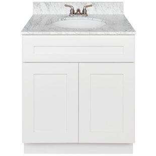 Best Reviews Stiltner 30 Vanity Cabinet Alpina White + Absolute Black Granite Top + Faucet By Winston Porter