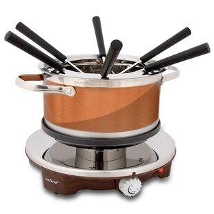 Electric Melting Pot Stainless Steel Fondue Set