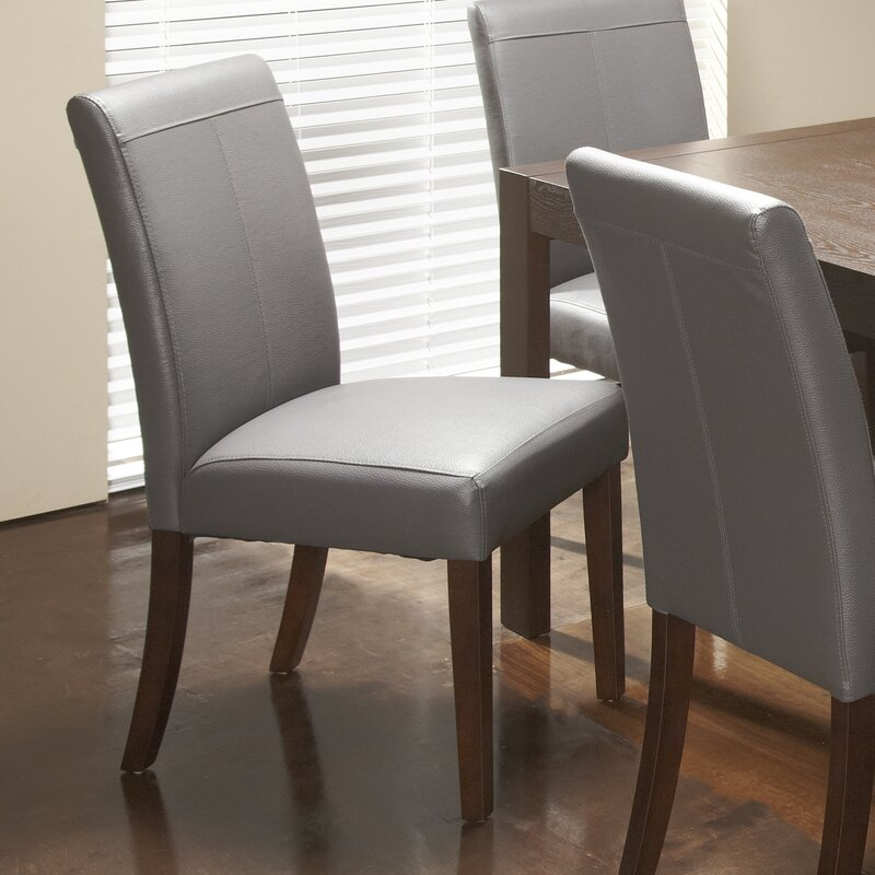 royal bonded leather upholstered dining chair