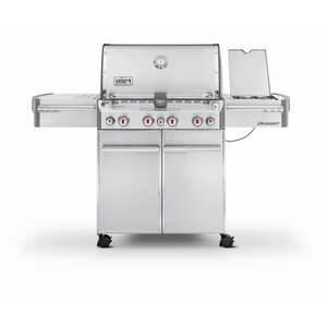 summit s470 4burner natural gas grill with smoker