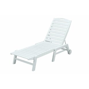 Nautical 3-Piece Chaise Set With Cushions By POLYWOOD®