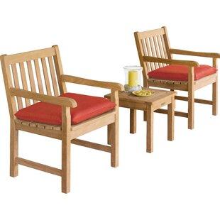 Myres 3 Piece Conversation Set with Cushions