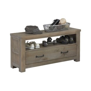 Timberville Wood Storage Bench by Greyleigh