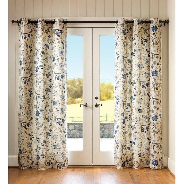Plow Hearth Jacobean 100 Cotton Floral Room Darkening Thermal Grommet Curtain Panels Reviews Wayfair