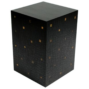 Mosaic Block Pedestal End Table