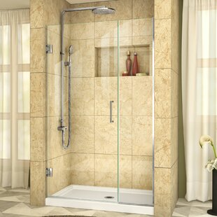 Unidoor Plus 39 x 72 Hinged Frameless Shower Door with Clearmax? Technology by DreamLine