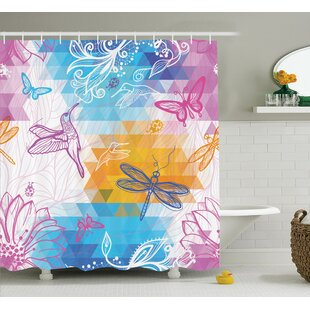 Lottie Butterflies Dragonflies Single Shower Curtain