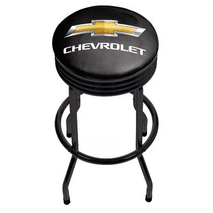 Chevrolet Ribbed 29 Swivel Bar Stool Trademark Global