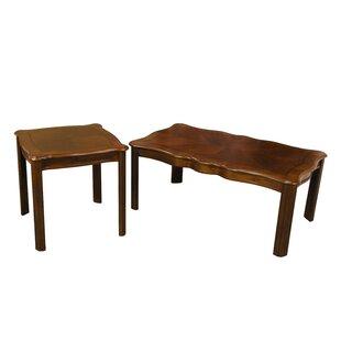 Grunewald 2 Piece Coffee Table Set by Alcott Hill Best #1