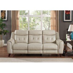HYDELINE Paramount Leather Reclining Sofa