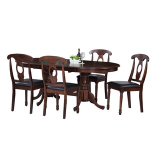 Doretha Traditional 5 Piece Solid Wood Dining Set by Darby Home Co