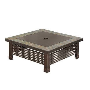 Pleasant Hearth Bradford Metal Wood Burning Fire Pit Table