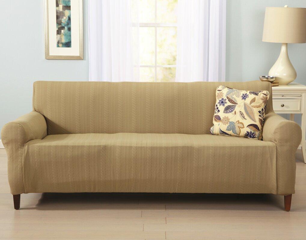 Home Fashion Designs Darla Box Cushion Sofa Slipcover & Reviews ...