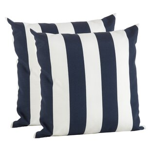 Feuerstein Striped Outdoor Pillow Cover (Set of 2)