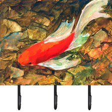 Koi Fish Leash Holder and Key Hook by Caroline's Treasures