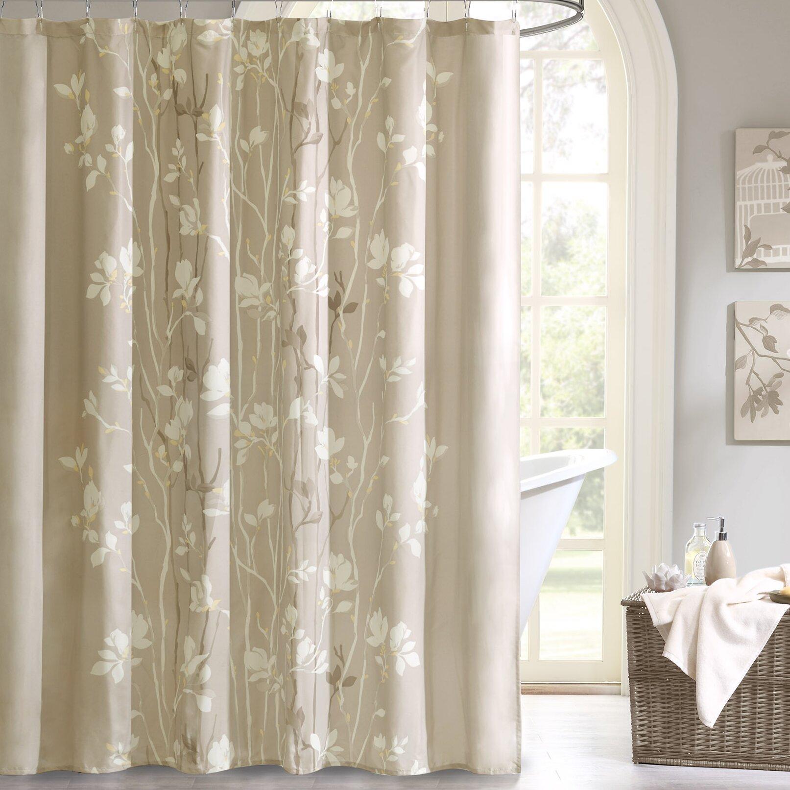Aqua Chevron Shower Curtain - Vaughn shower curtain