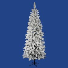 6.5' White Artificial Pencil Christmas Tree with Stand