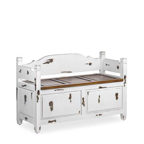 Duckett Combinable Wood Storage Bench Fleur De Lis Living
