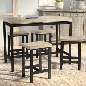 Bourges 5 Piece Pub Table Set