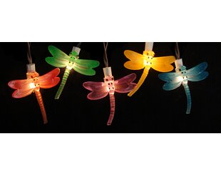 Read Reviews 10-Light Dragonfly String Lights (Set of 10) By Sienna Lighting