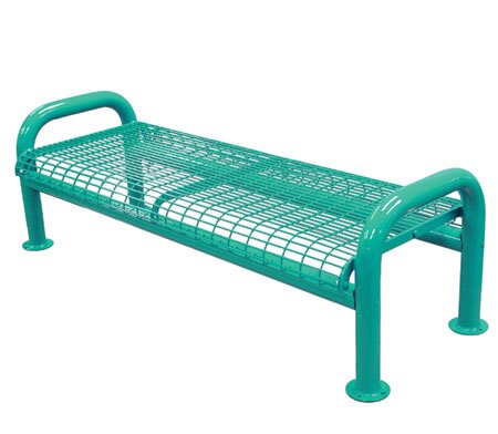 Elegant u leg metal picnic bench by leisure craft look for Leisure craft picnic tables