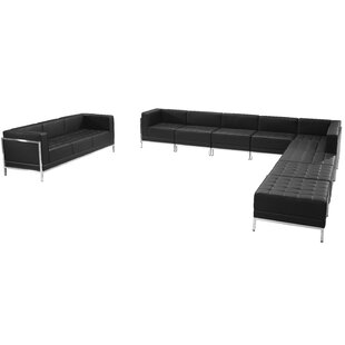 Bouffard Melrose Modular Sectional Sofa Set with Ottoman by Orren Ellis