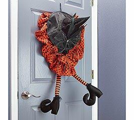 Animated Door Hanger Witch Hat