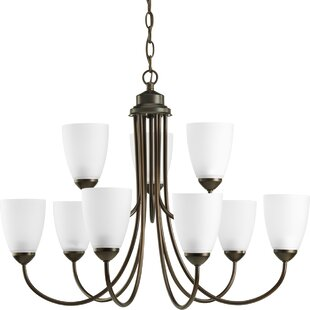 Chauvin 9-Light Shaded Chandelier by Charlton Home