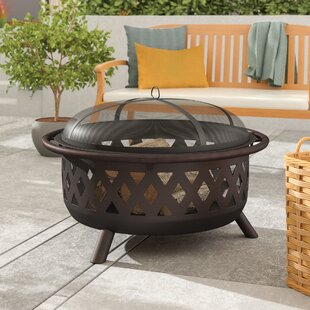 Maui Steel Wood Burning Fire Pit By Sol 72 Outdoor