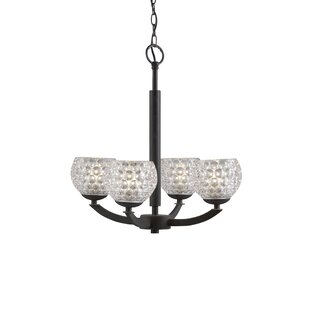 Ebern Designs Heavner 4-Light Shaded Chan..