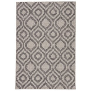 Idra Trellis Grey Indoor/Outdoor Area Rug
