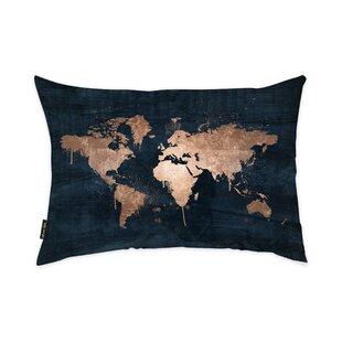 Oakledge Mapamundi Copper Lumbar Pillow